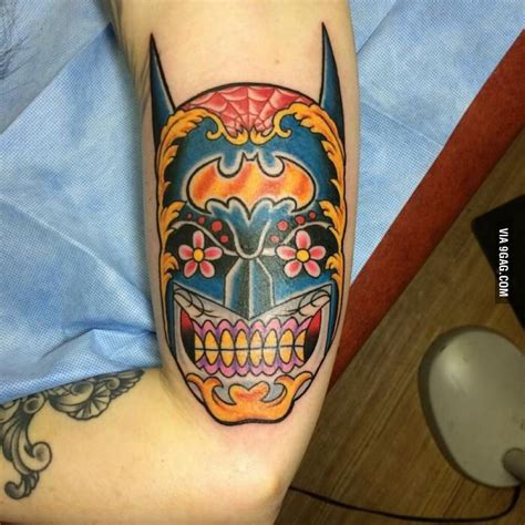 batman mandala tattoo 11 badass batman tattoos in honor of gotham s premiere