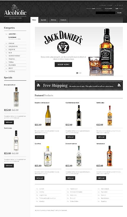 template 39883 alcoholic beverage prestashop theme