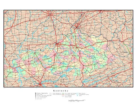 kentucky usa map usa map kentucky state 28 images image gallery