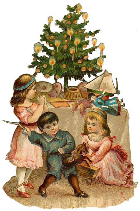 vintage christmas vintage victorian christmas die cut clip art day five