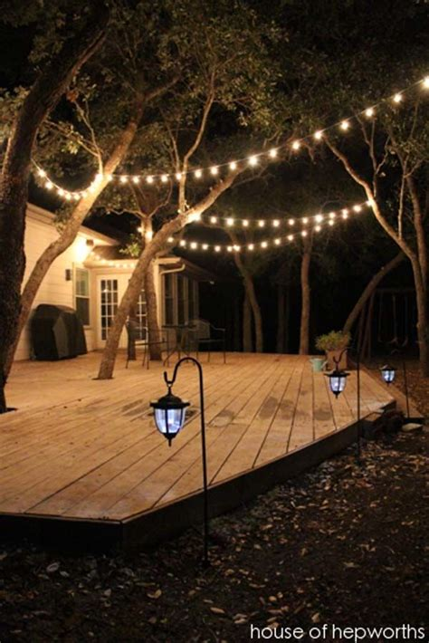 backyard lights 25 best ideas about outdoor patio lighting on pinterest