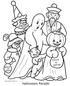 fun spooky halloween coloring pages costumes family holiday net guide family holidays