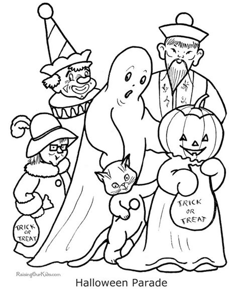 printable halloween pictures fun and spooky halloween coloring pages costumes family