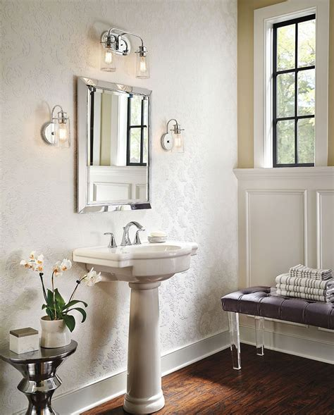 bathroom sconce lighting ideas there s so much to about the reclaimed style of the braelyn wall sconce by kichlerstyle