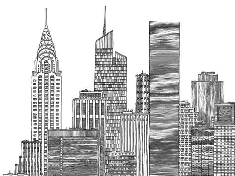 Sketches New York by New York Skyline Mister Mour 227 O Illustrations