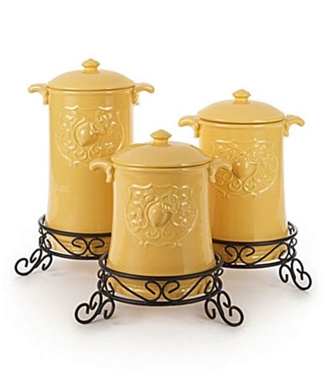 Yellow Canister Sets Kitchen Kitchen Canisters Canisters And Dillards On Pinterest