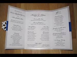 Program Fans For Wedding Ceremony Diy Wedding Programs Wedding Programs As Fans Diy Youtube