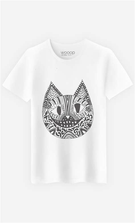 Tshirt Cheshire Cat t shirt homme the cheshire cat l 233 ger coupe droite wooop