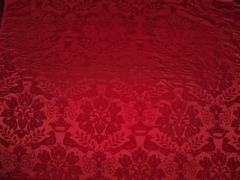 red damask upholstery fabric scalamandre love bird silk damask fabric 10 yards ruby red