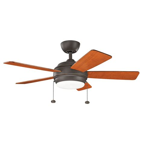 42 inch bronze ceiling fan with light kichler starkk olde bronze 42 inch led ceiling fan with