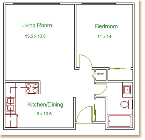 one bedroom floor plans hilldale towers floor plans