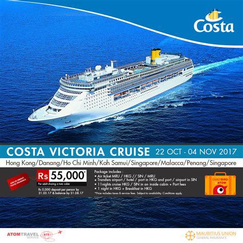 cruises hong kong to singapore costa victoria cruise hong kong singapore october 2017