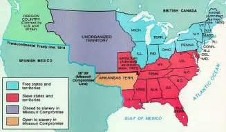 Map Of United States In 1820 by Interactive Map Of The Missouri Compromise Of 1820