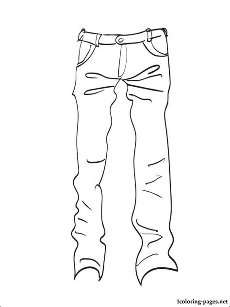 jeans coloring page for printing coloring pages