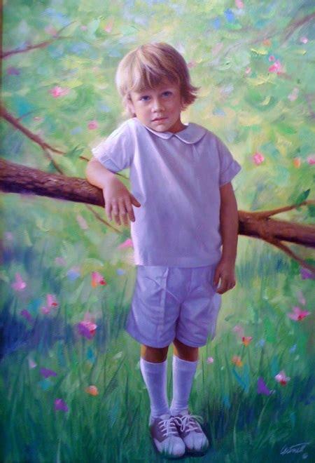Boys Portrait Painting Greg Cartmell