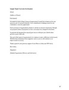Thank You Letter For Donation Exles Exle Thank You Letter For Donation Sle Of Thank