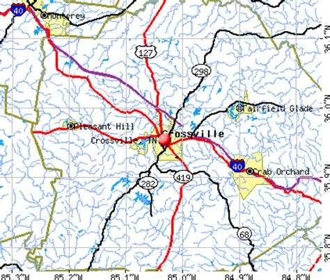 Crossville, Tennessee (TN 38572) profile: population, maps