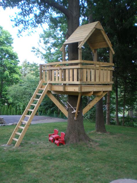 treehouse house tree fort village custom furniture