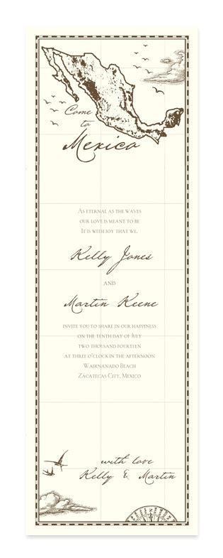 what comes in a wedding invitation come to mexico wedding invitations by invitation