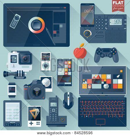 design gadgets flat design gadgets poster id 84528596