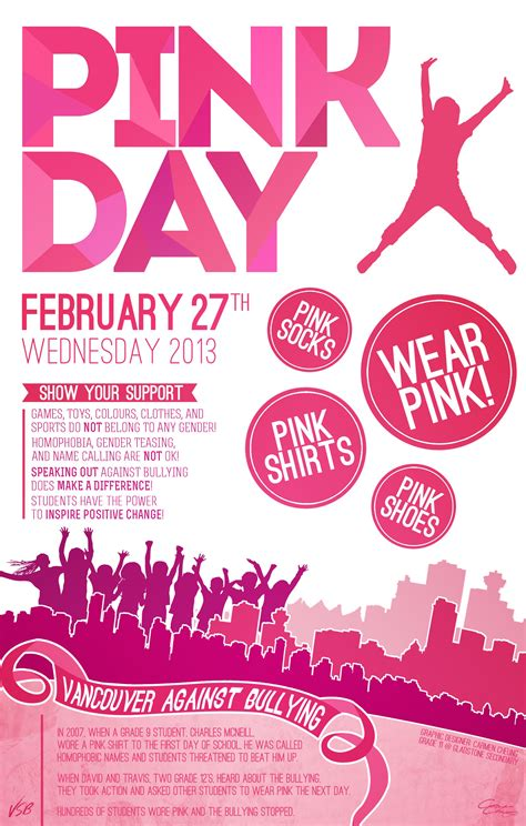 A Day With Pink by Vancouver Schools Awash In Pink Day Events And Excitement