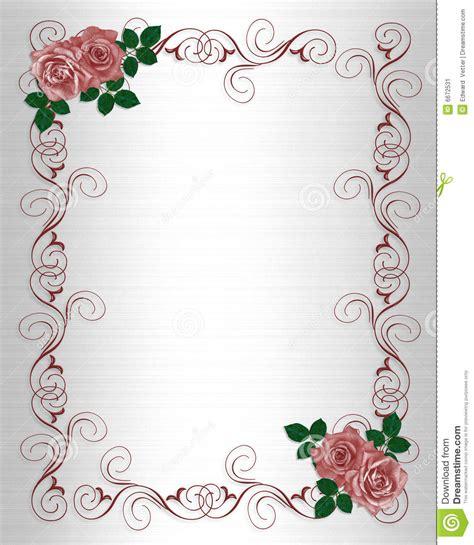 Eheringe Vorlage by Rosas Do Vermelho Do Molde Do Convite Do Casamento Imagem