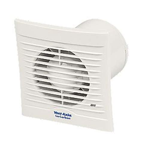 Bathroom Extractor Fan Energy Usage Vent Axia 100t 6w Locarbon Silhouette Axial Bathroom