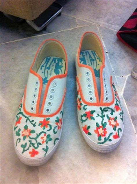 12 gorgeous painted shoe sneaker ideas diy to make