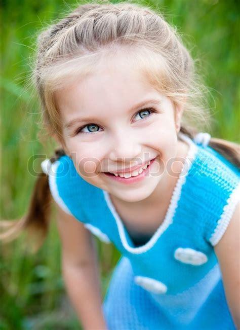cute 9 year old girls cute little girl stock photo colourbox