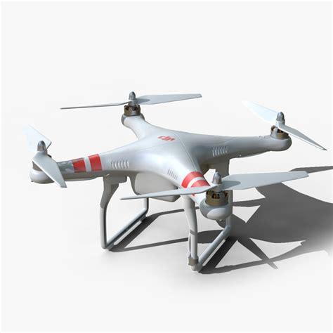 model drone with 3d model of dji phantom 2 drone