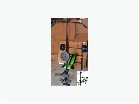 competitor weight bench with 80 pound weight set competitor ol school muscle bench with 80 lb weights west