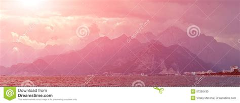 nature landscape of taurus rock mountains stock photo