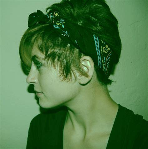 bandana short hair pixue cut bandana at nite hairstylegalleries com