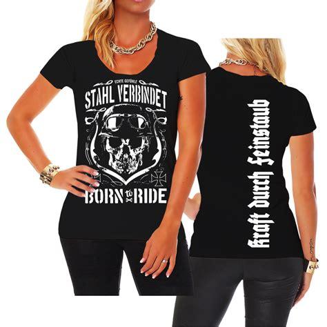 Motorrad Chopper Damen by Frauen Damen T Shirt Stahl Verbindet Motorrad Chopper