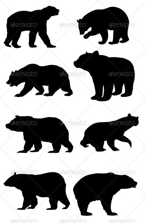 bear silhouette tattoo silhouettes silhouette silhouettes and bears