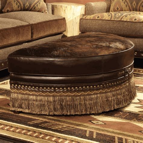 half moon storage ottoman brindle chocolate half moon cowhide ottoman