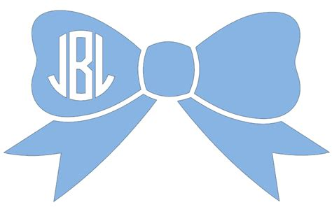 bow decal 5 quot bow monogram decal 183 the forgotten treasure 183