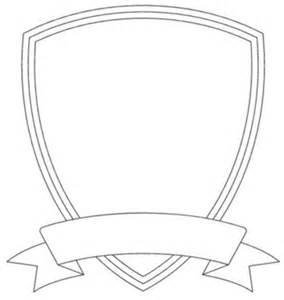 badge outline shield template image vector clip art