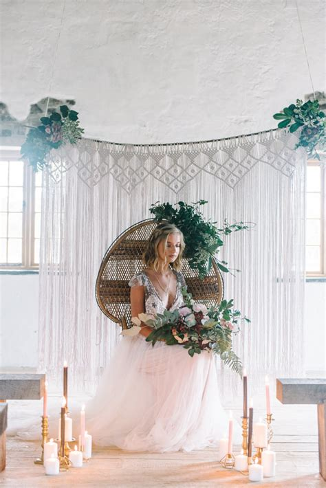 Wedding Inspiration by Rich And Bohemian Seasonal Wedding Inspiration With A