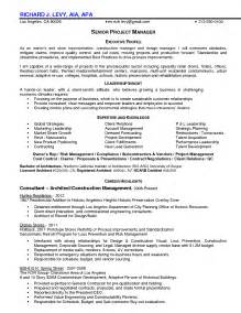 construction manager sle resume quality manager resume sales quality