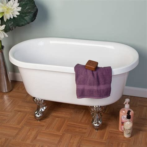 Baby Bathtub 36 Quot Ella Double Ended Acrylic Mini Clawfoot Tub With