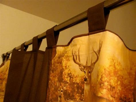 hunting curtains country shower curtain wildlife rustic deer outdoors