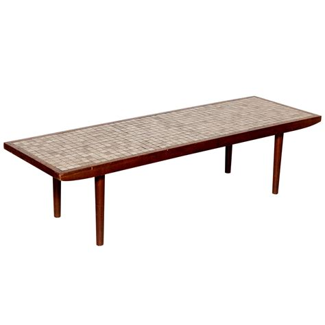 Ceramic Coffee Tables 1960 S And Gordon Martz Ceramic Tile Top Walnut Frame Coffee Table For Sale At 1stdibs