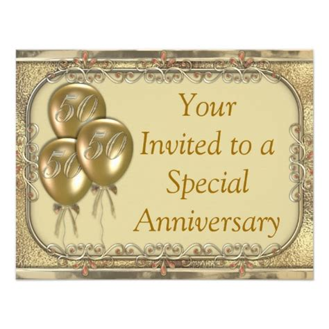 Wedding Anniversary Announcement by 50th Wedding Anniversary Invitations