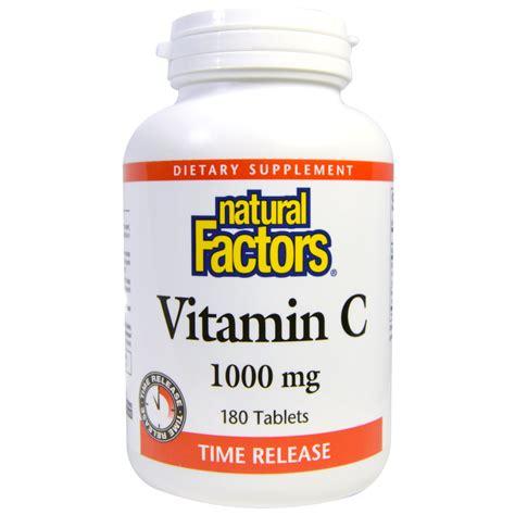 Vitamin Nat C Factors Vitamin C Time Release 1000 Mg 180