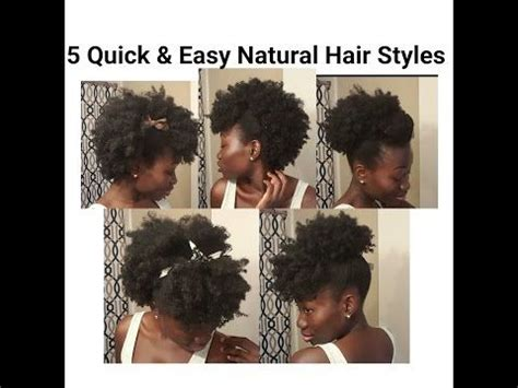 natural hair after five styles 5 quick easy natural hair styles short medium length