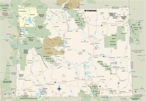 map of wyoming usa wyoming parks map