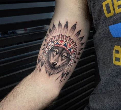 animal headdress tattoo 48 incredible wolf tattoos that are anything but ordinary