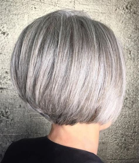 short gray layered bob 90 classy and simple short hairstyles for women over 50