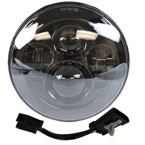 Led Light Bulbs Headlights 7 Quot Motorcycle Black Projector Daymaker Hid Led Light Bulb Headlight For Harley Ebay